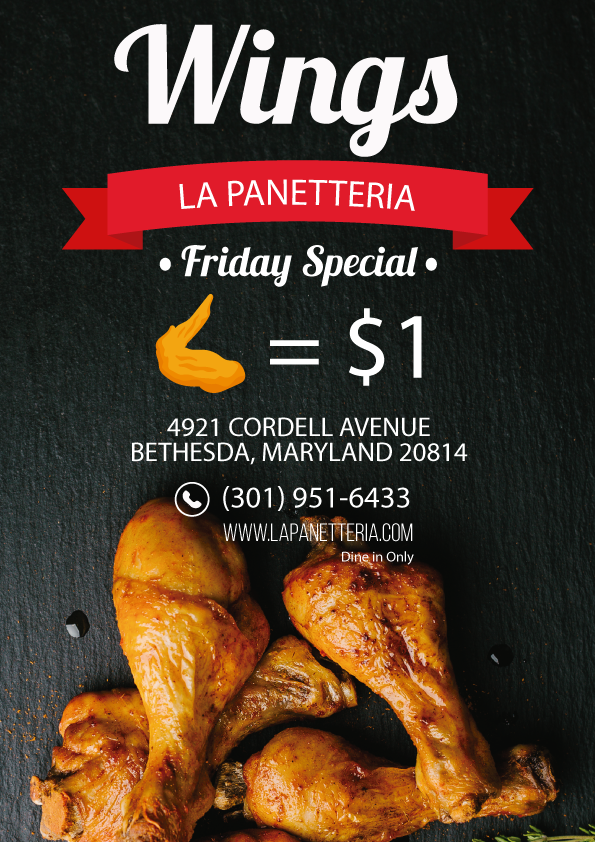 La Panetteria Friday Wings $1each