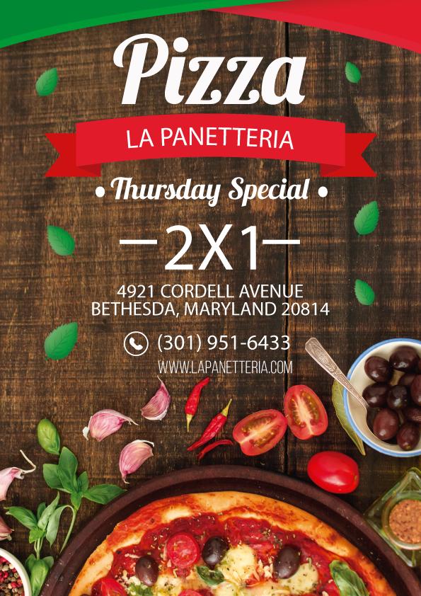 La Panetteria Thursday Pizza 2x1