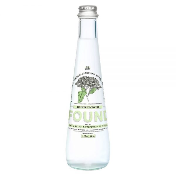 Found Mineral Water, Natural, Elderflower - 11.2 Ounces