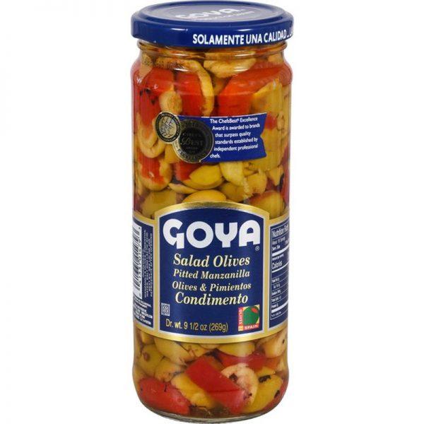 Goya Salad Manzanilla Pitted Olives & Pimientos