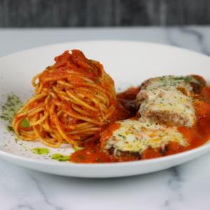 Melanzane-Parmigiana-with-Spagetti